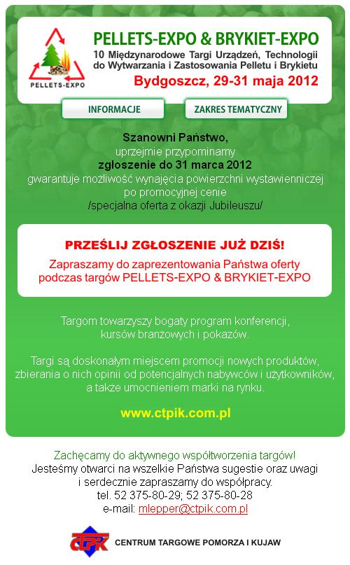 PELLETS-EXPO & BRYKIET-EXPO 2012