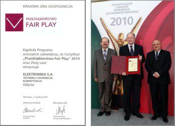 Fair Play 2010 dla Elektronika S.A.