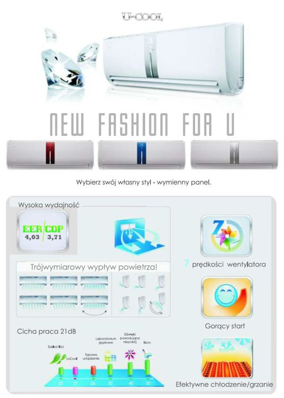 New fashion for U - Klimatyzatory U-Cool GREE