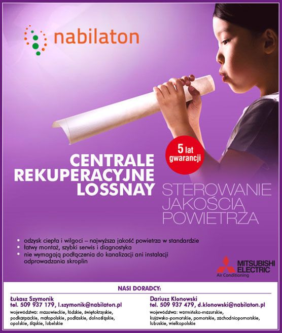 centrale rekuperacyjne Lossnay