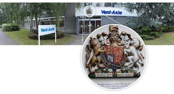 VENT-AXIA 1936 - 2011 By Appointment to H.M. The Queen Suppliers of Unit Ventilation Equipment Vent-Axia, Crawley, West Sussex