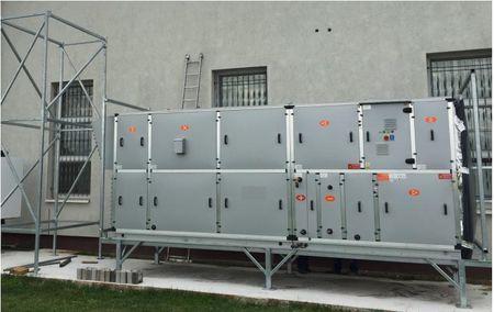Centrala klimatyzacyjna 5500 m3/h nowa od ręki izolacja 63 mm dachowa