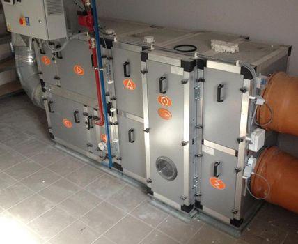 Centrala klimatyzacyjna, rekuperator o wydajności 4000m3/h
