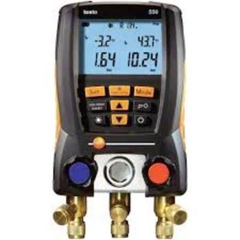 Elektroniczna oprawa zaworowa Testo 550-1, manometry elektroniczne
