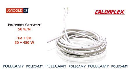 Przewody / kable grzewcze 1-9m; 50W/m