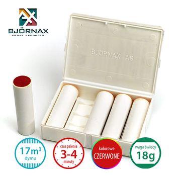Świece dymne kolorowe Bjornax - czerwone AX18 (18g/17m3/3-4 min.)