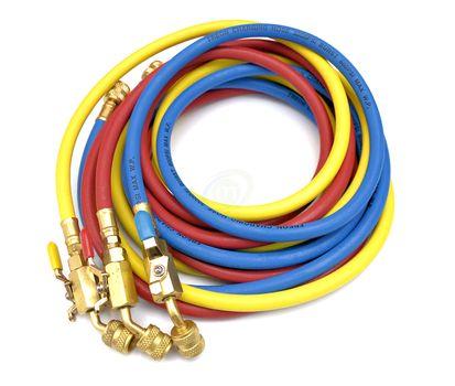 Węże serwisowe z zaworami 90 - 300 cm 1/4