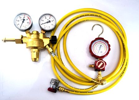 Zestaw do sprawdzania nieszczelności azotem - tester szczelności Azot, azotowy ZA 610zł Brutto