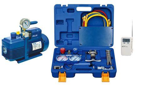 Zestaw narzędzi do montażu i serwisu klimatyzatorów